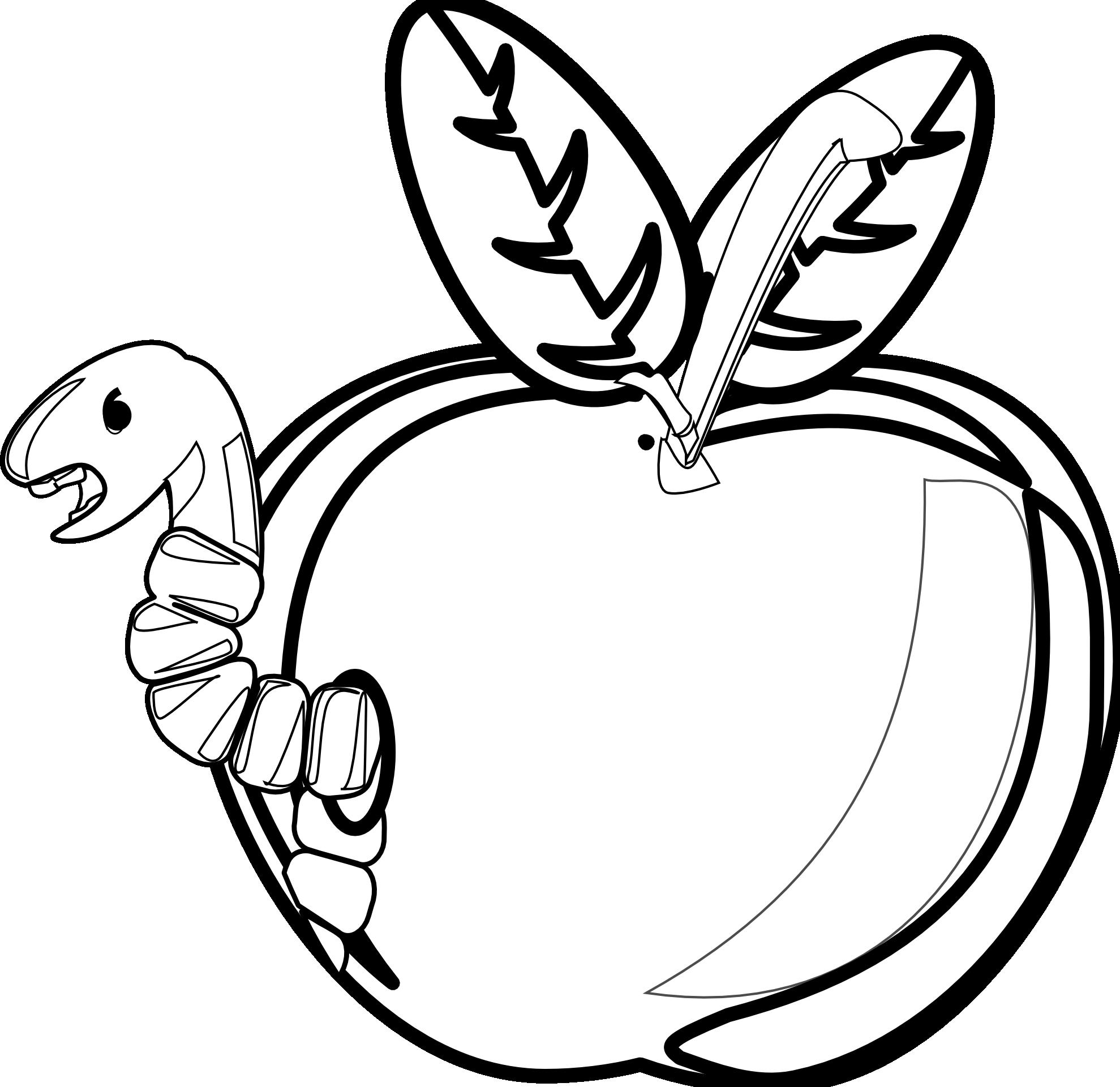 Similiar Black And White Cartoon Apple Keywords.