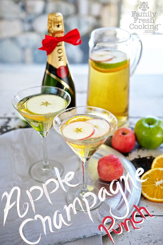 Champagne Apple Punch.