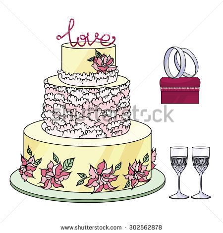 Triple Decker Cake Stock Photo 42284644.