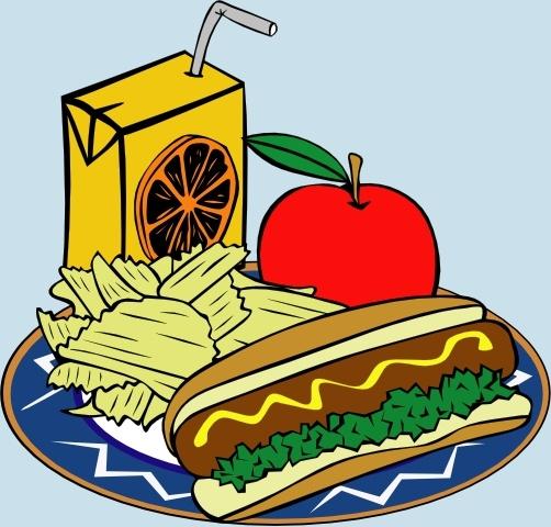 Hotdog Apple Juice Chips Mustard clip art Free vector in.