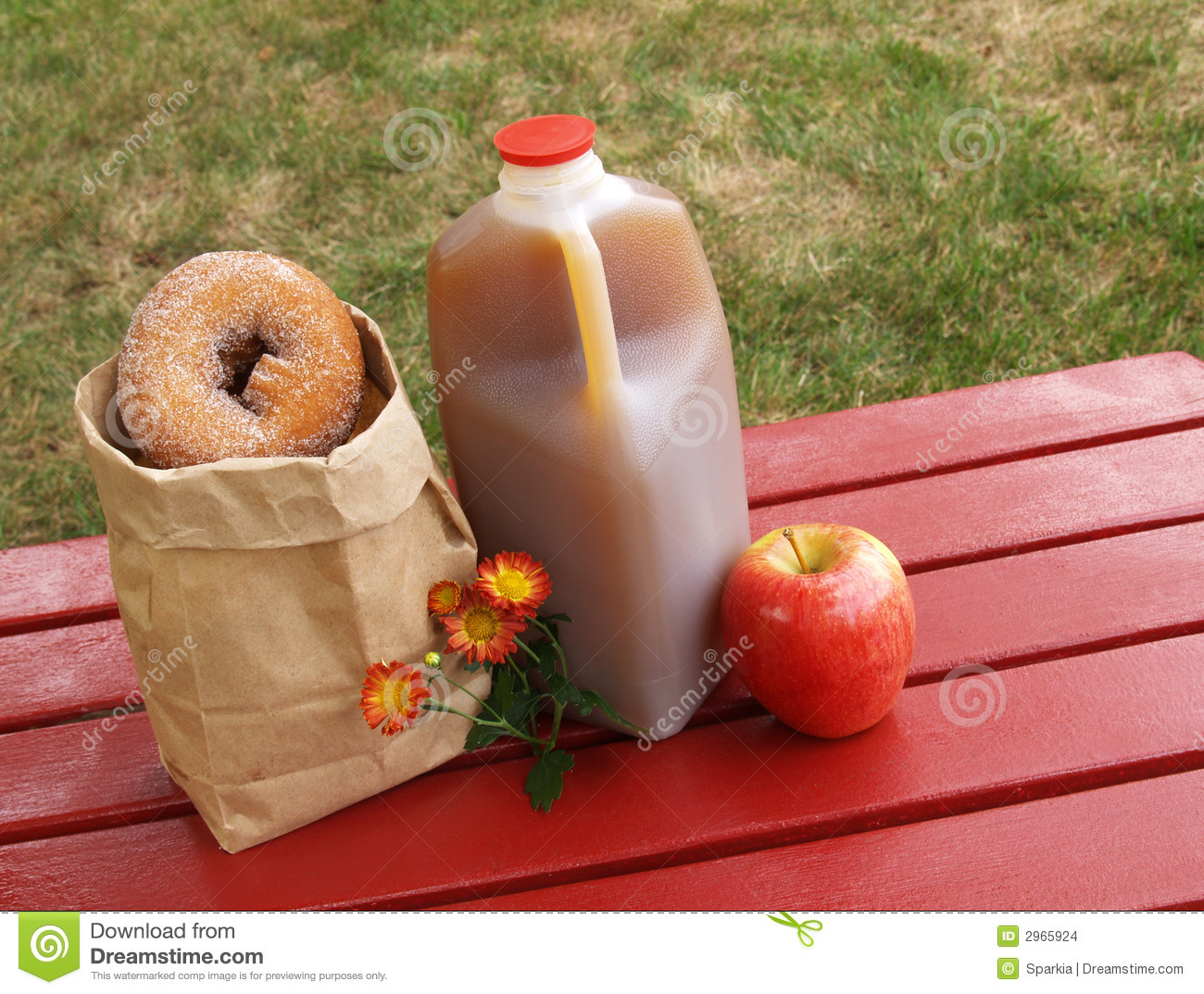 Apple Cider And Donuts Clipart.