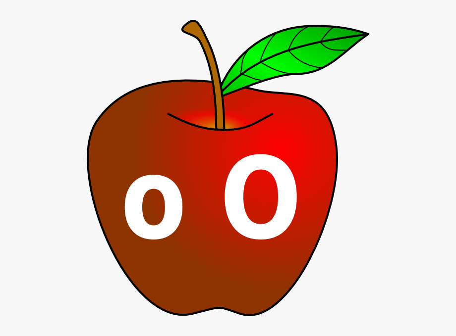 Clipart Of Oo, Apple A And Apple Cinnamon, Cliparts.
