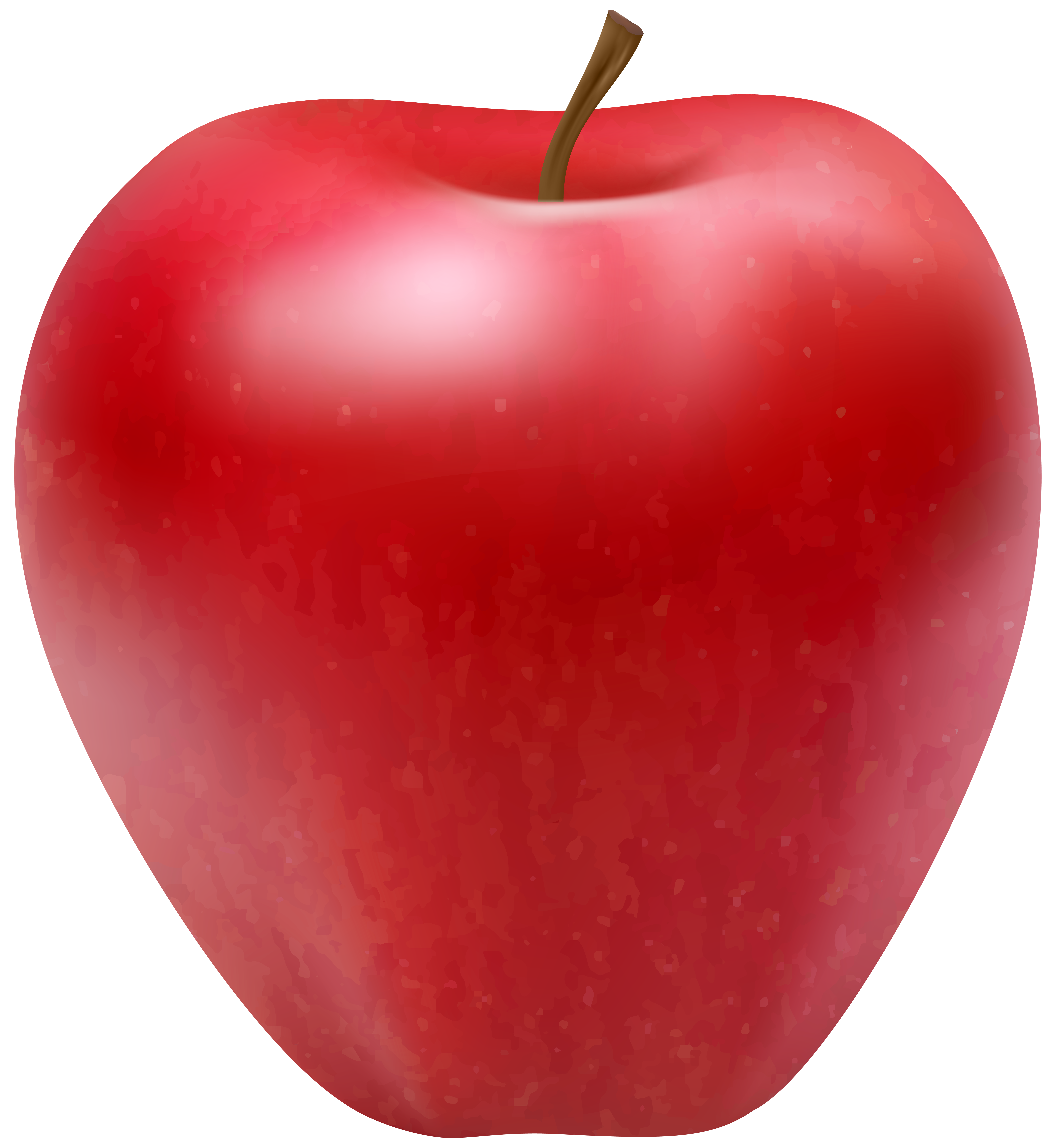 Red Apple PNG Clip Art Image.
