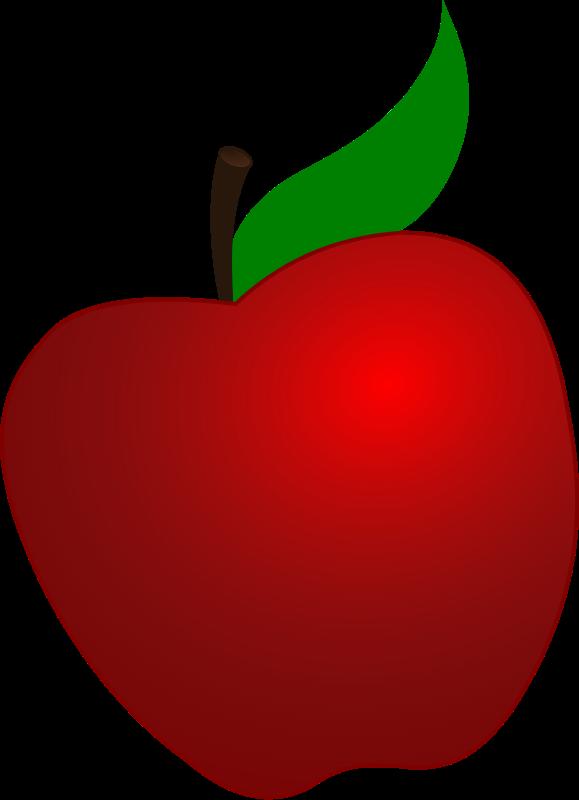 111 Teacher Apple Clipart.