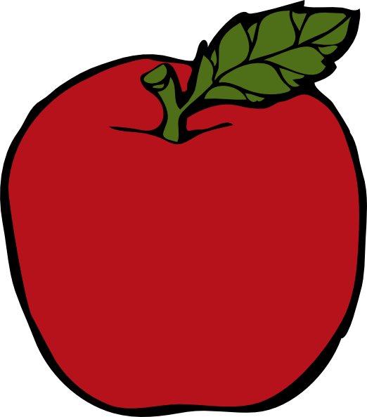 Free Clipart Image An Apple By an Apple.