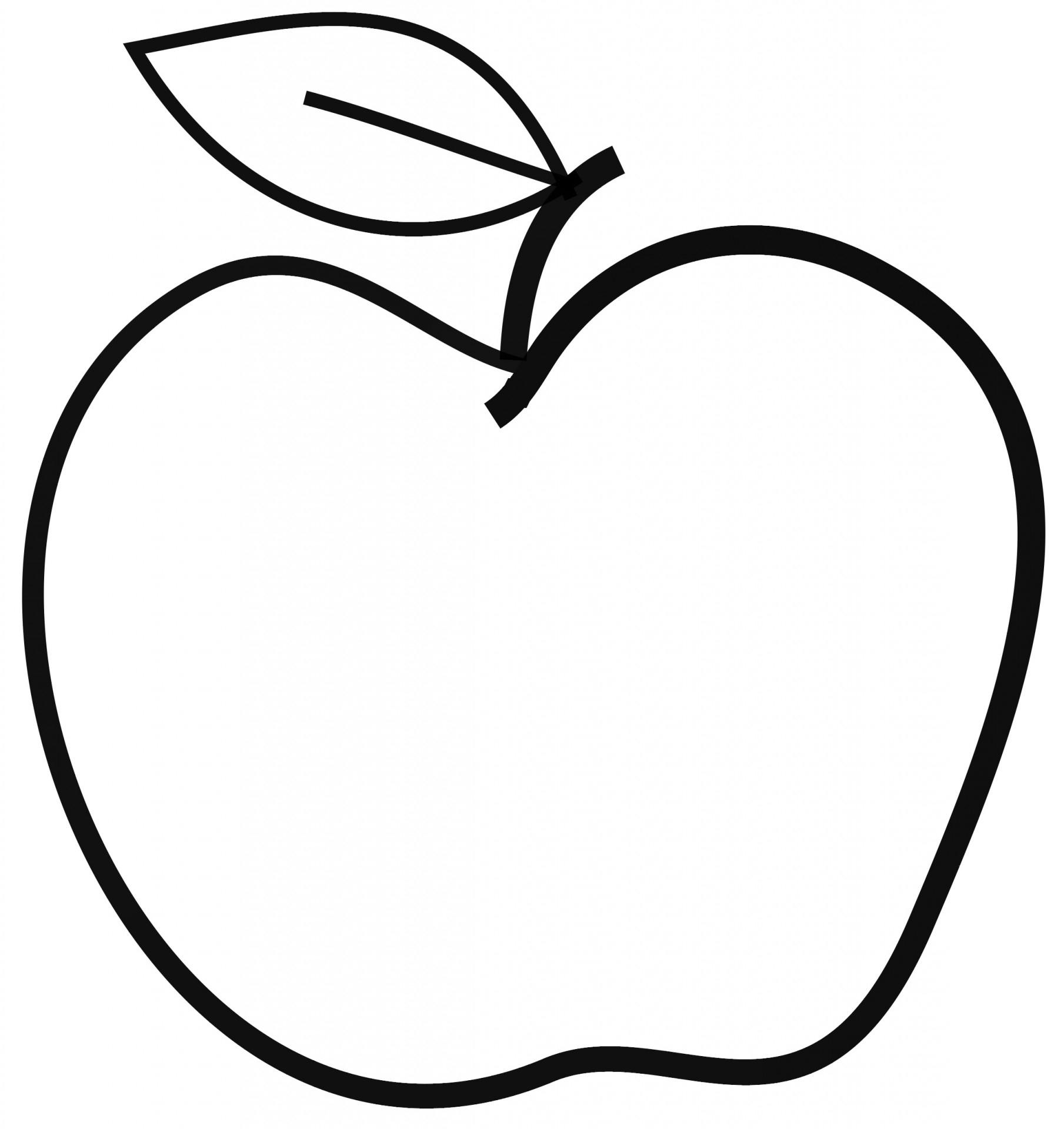 Apple clipart black and white Lovely Apple clip art free.