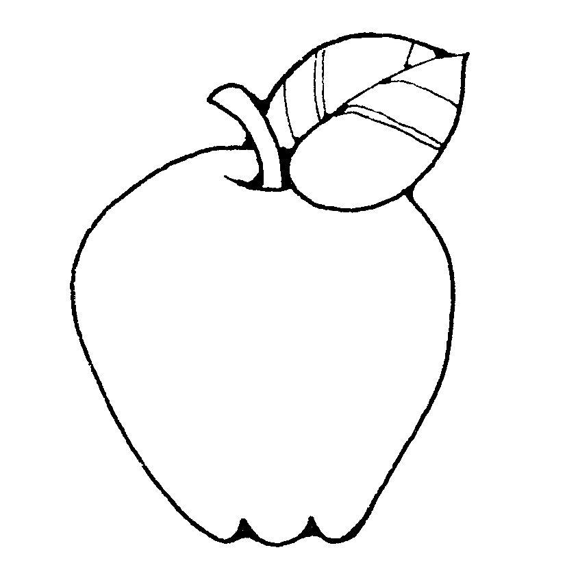 School Apple Clip Art Black And White.