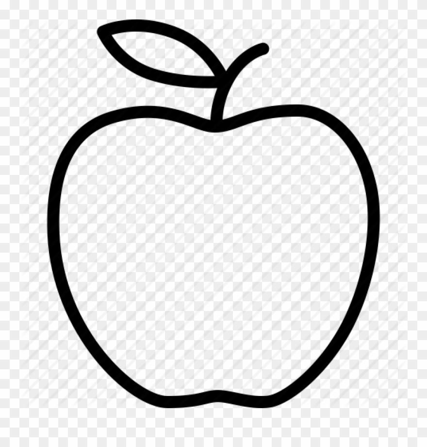 Apple Clip Art Outline Apple Outline Vector Huge Freebie.