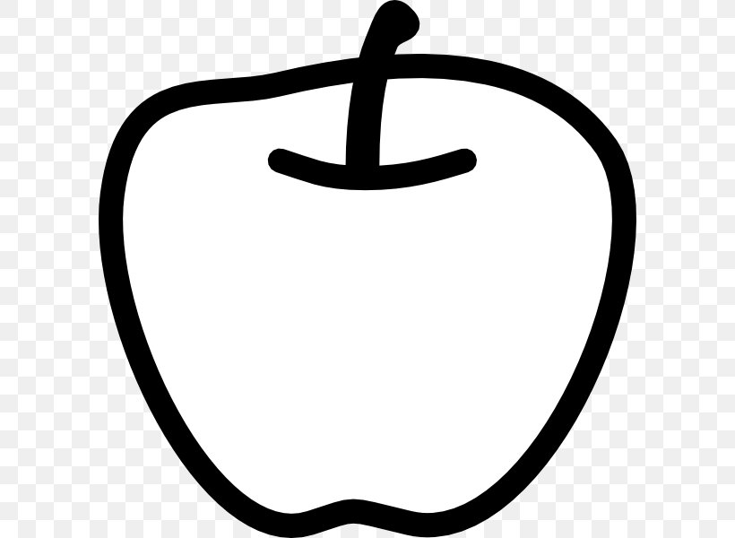 Black And White Apple Clip Art, PNG, 600x600px, Black And.