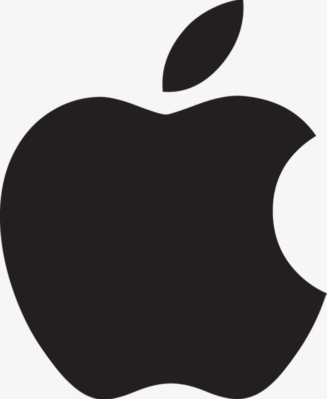 Pure Black Apple Logo Material PNG, Clipart, Apple, Apple.