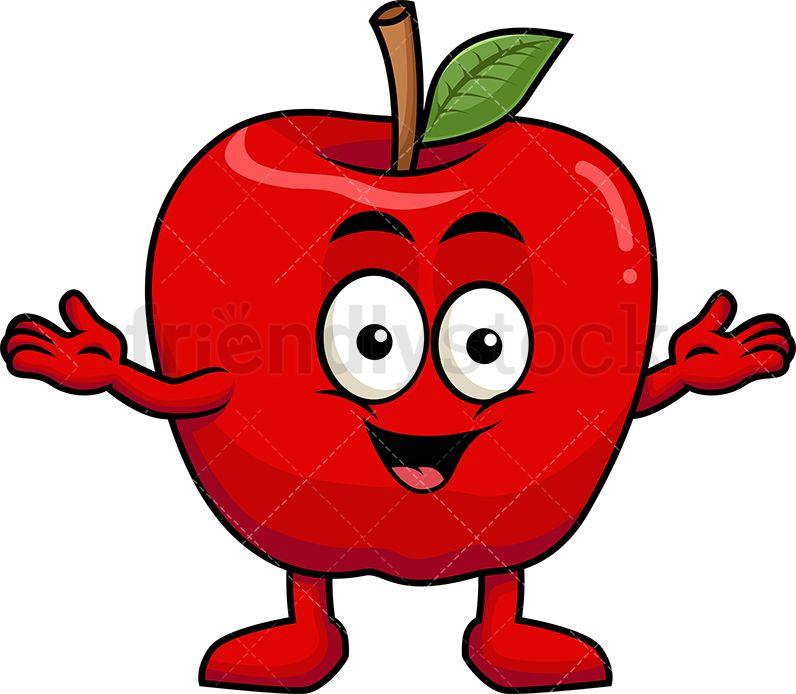 Happy Apple Mascot.