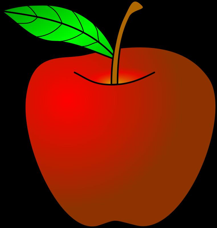 Red Apple Cartoon Clipart.