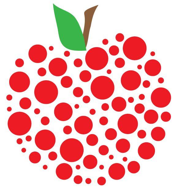 Chevron teacher apple clipart.