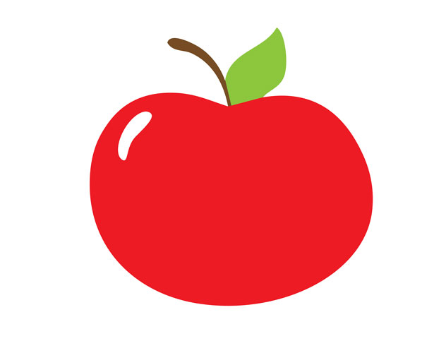Red Apple Clipart Free Stock Photo.