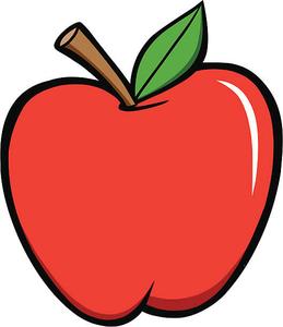 Free School Apple Clipart.