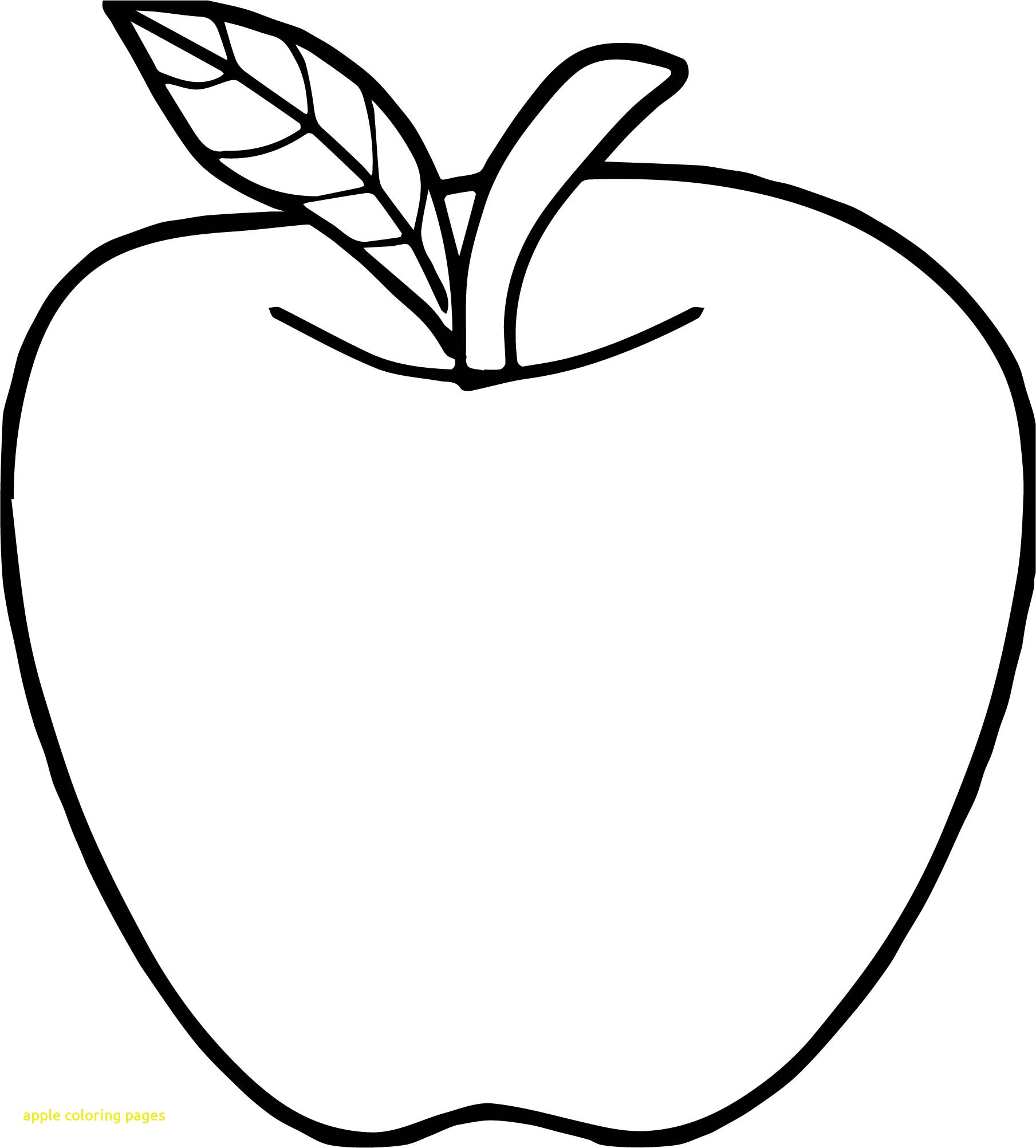 Apple Coloring Pages Printable.