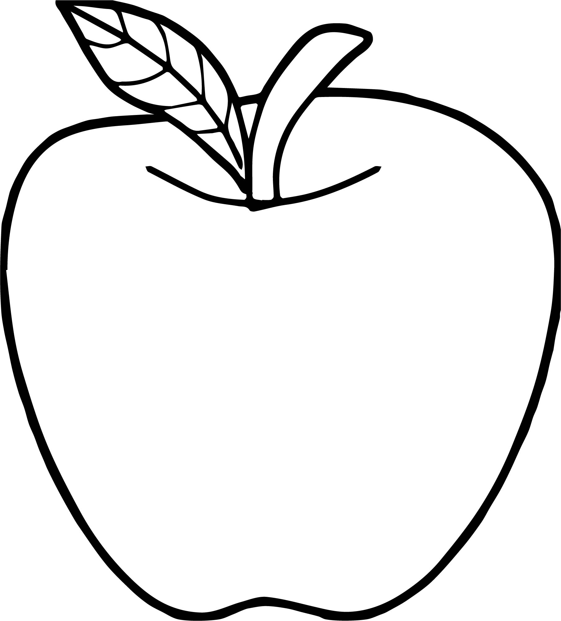 Apple Clipart Coloring.