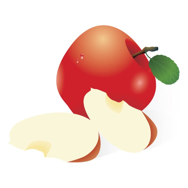 Cut Apple Clipart.