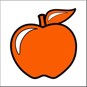 Clip Art: Colors: Apple 02: Red Orange Color I abcteach.com.