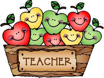 Teacher Apples Clip Art Image.