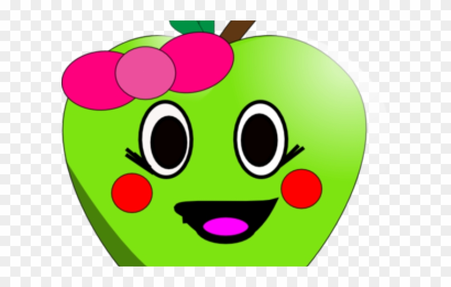 Apple Clipart Smiley Face.