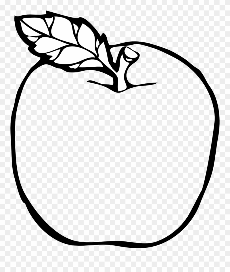 Apple Colouring Page Clipart Coloring Book Colouring.