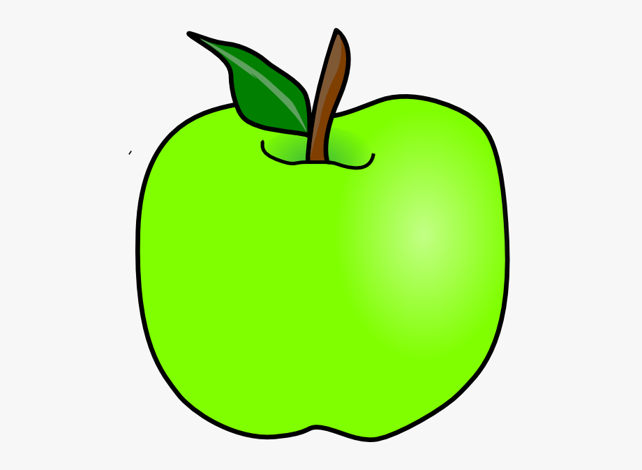 Green Apple Clipart Free.