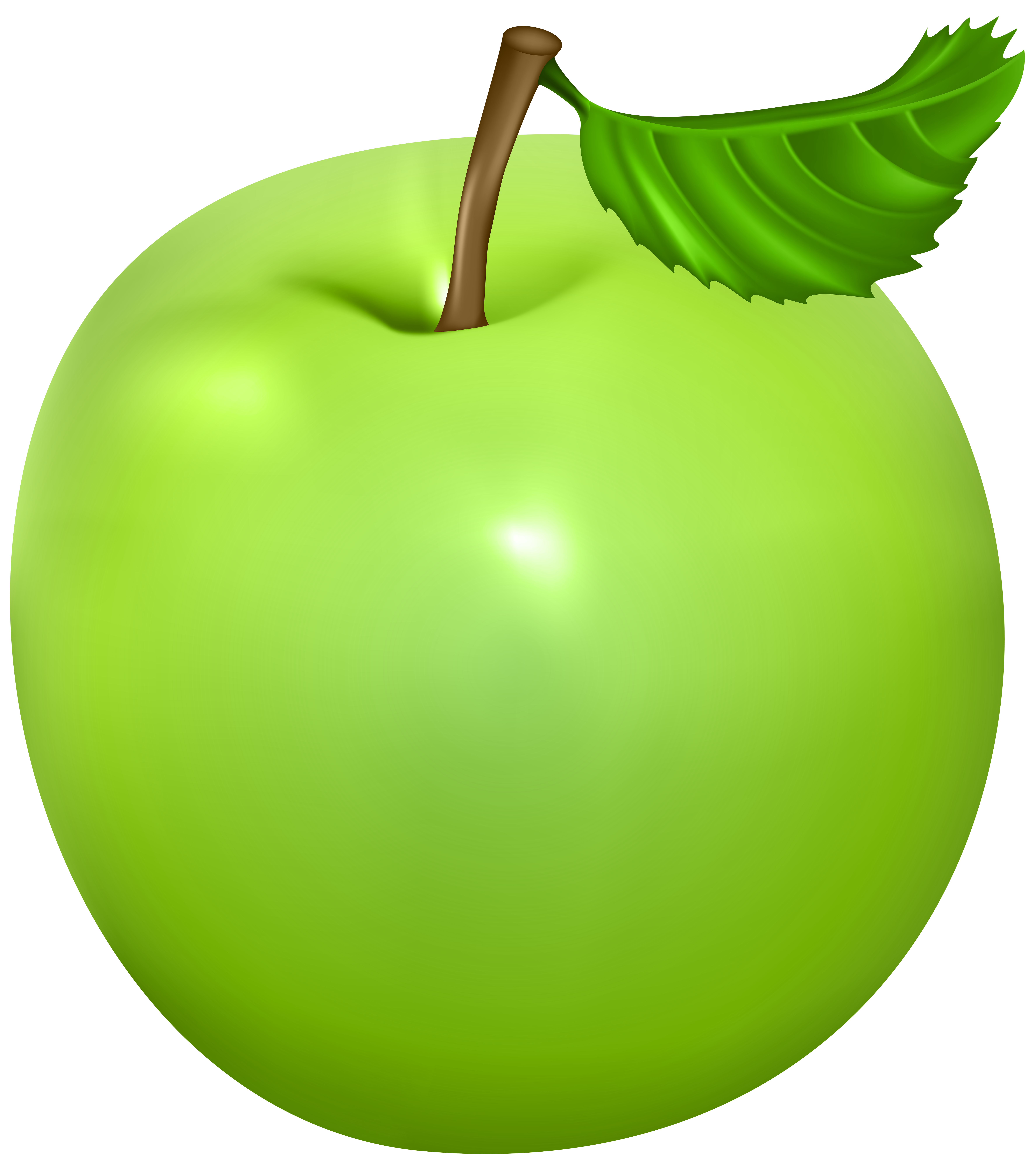 Green Apple PNG Clip Art Image.