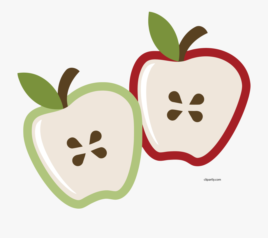 Half Apple Clipart , Transparent Cartoon, Free Cliparts.