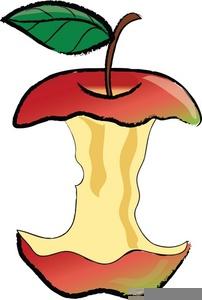 Half Eaten Apple Clipart.