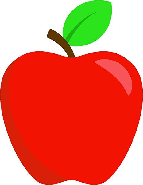 Simple Teacher\'s Apple Cartoon Emoji Vinyl Sticker (4\