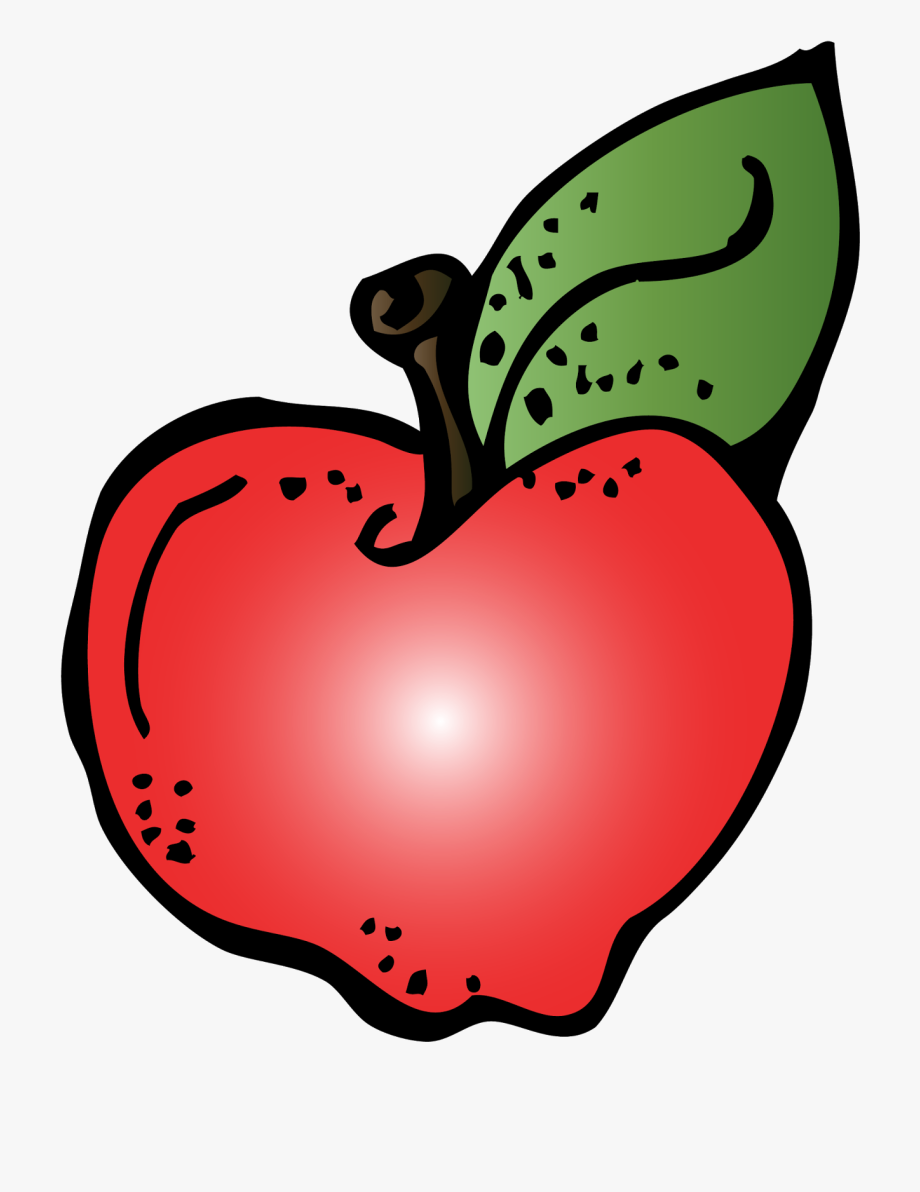 First Grade Clipart September Apple.