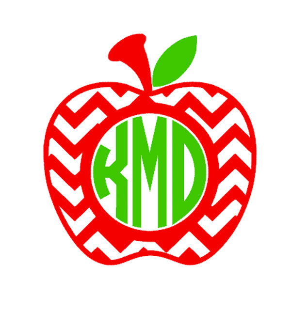 Apple monogram clipart.