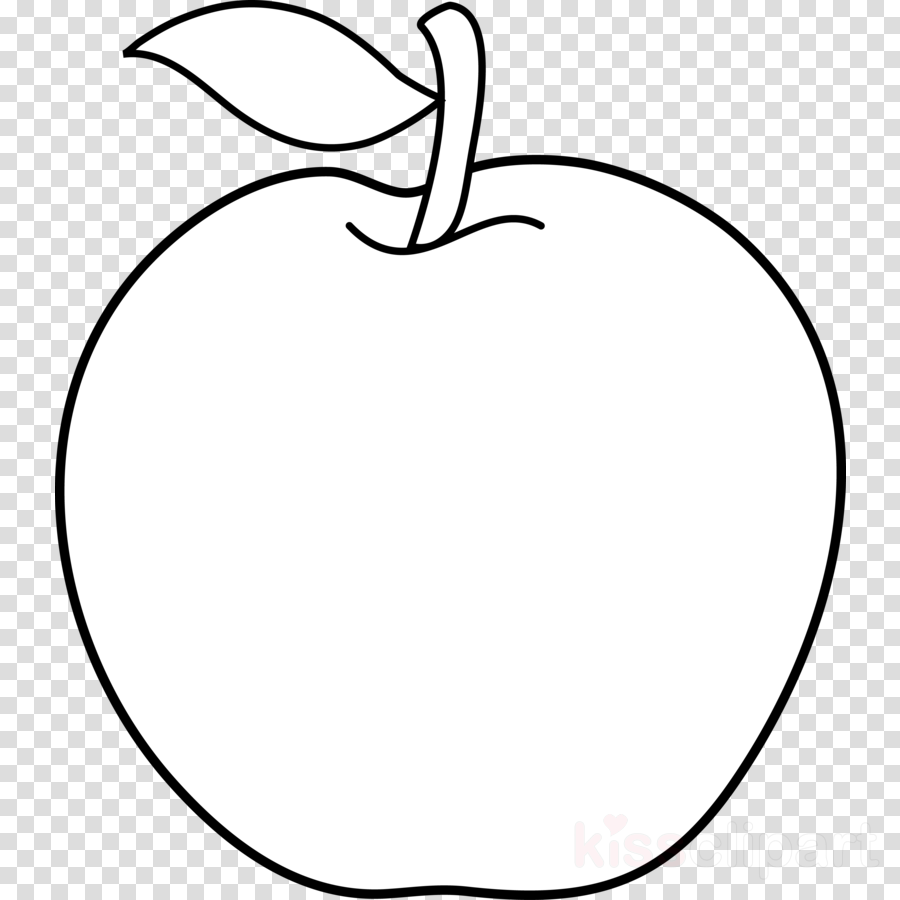 Apple Fruit Black And White Clipart Apple Black And.