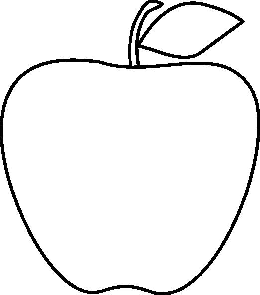 Apple Clipart Outline Black And White Image 20 Expert Clip Art.