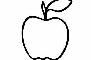 Apple clipart outline 3 » Clipart Portal.