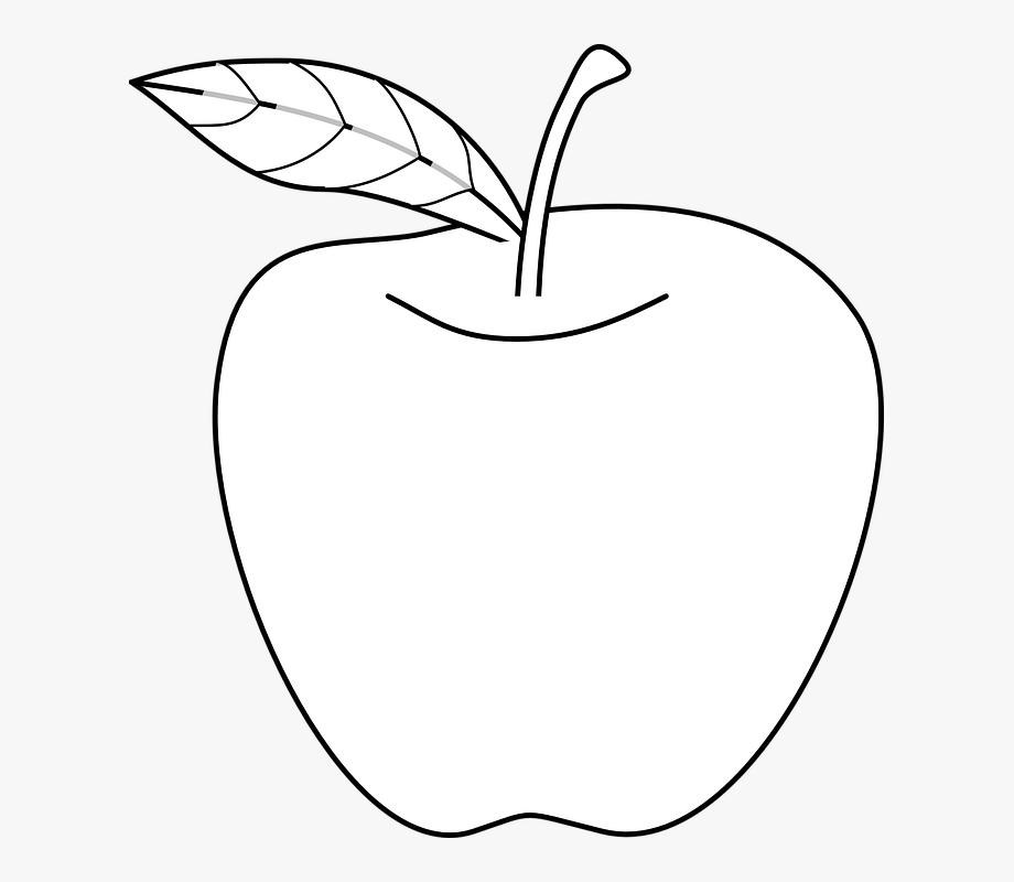 White Apple Cliparts.