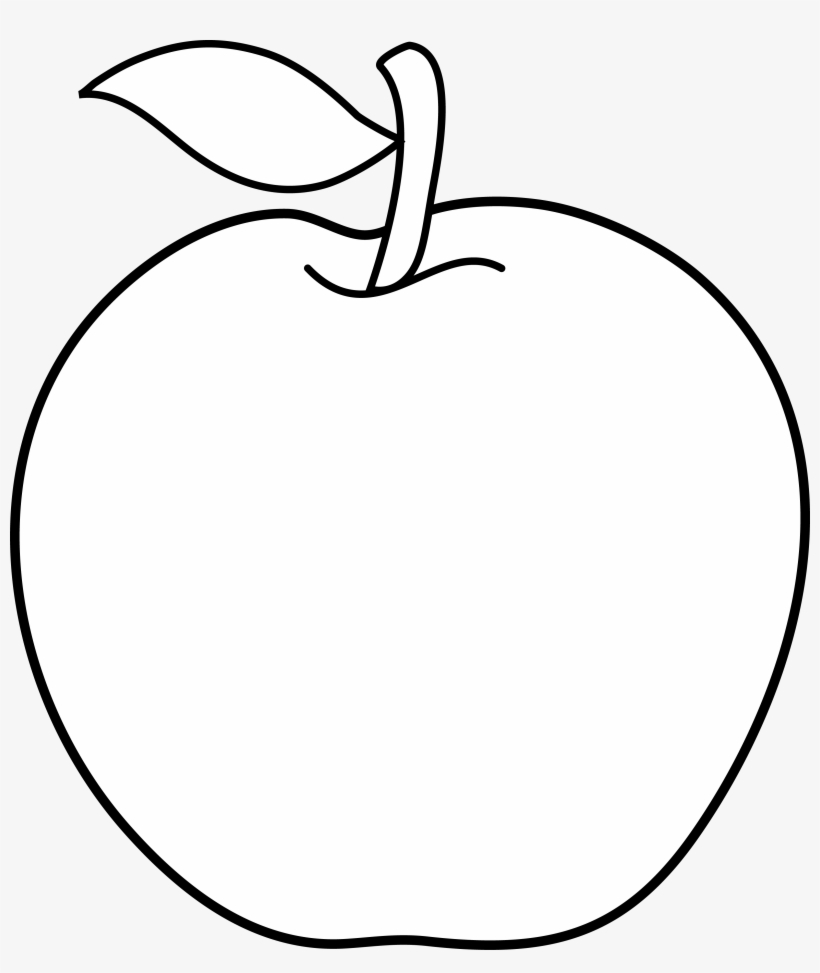 Apple Clipart Outline Png.