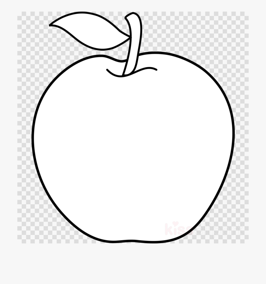 Fruits Black And White Clipart Apple.