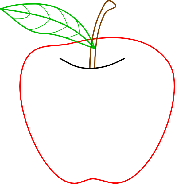 Colored Apple Outline Clip Art At Clker.