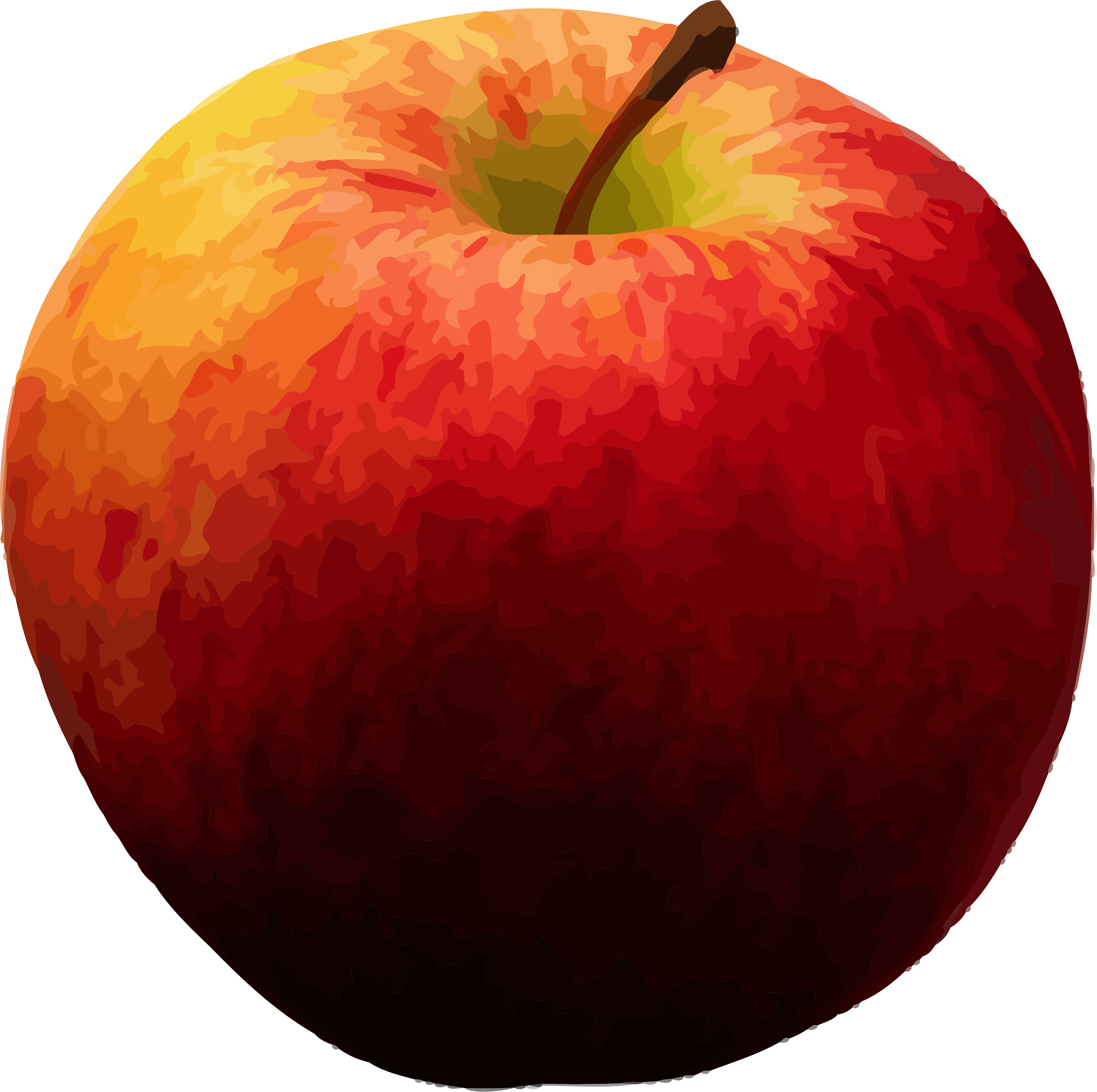 Realistic Apple Clipart Png.