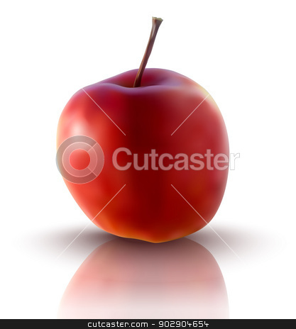 vector illustration of red apple stock vector.