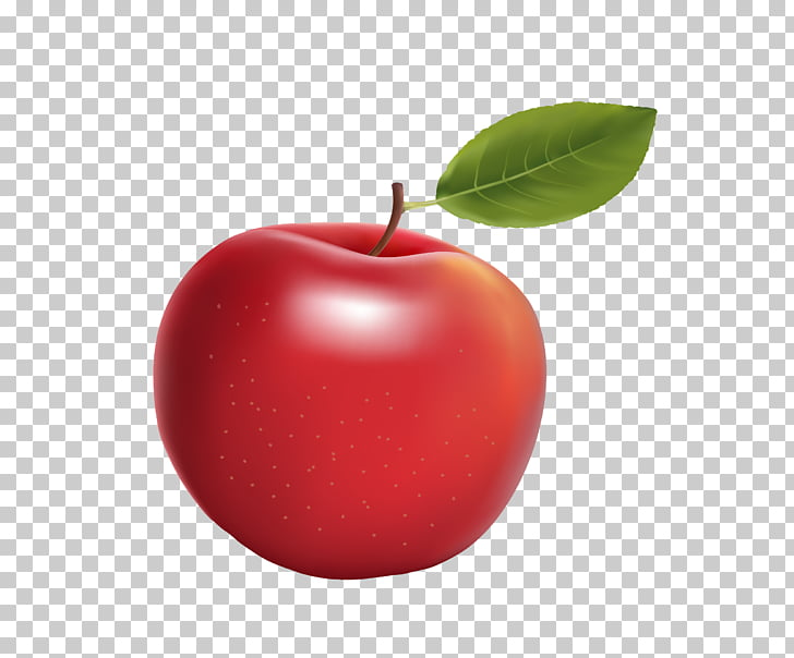 Red Big Apple, red realistic big apple PNG clipart.