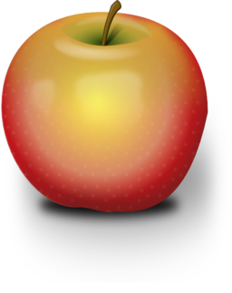 Photorealistic Red Apple Clipart.