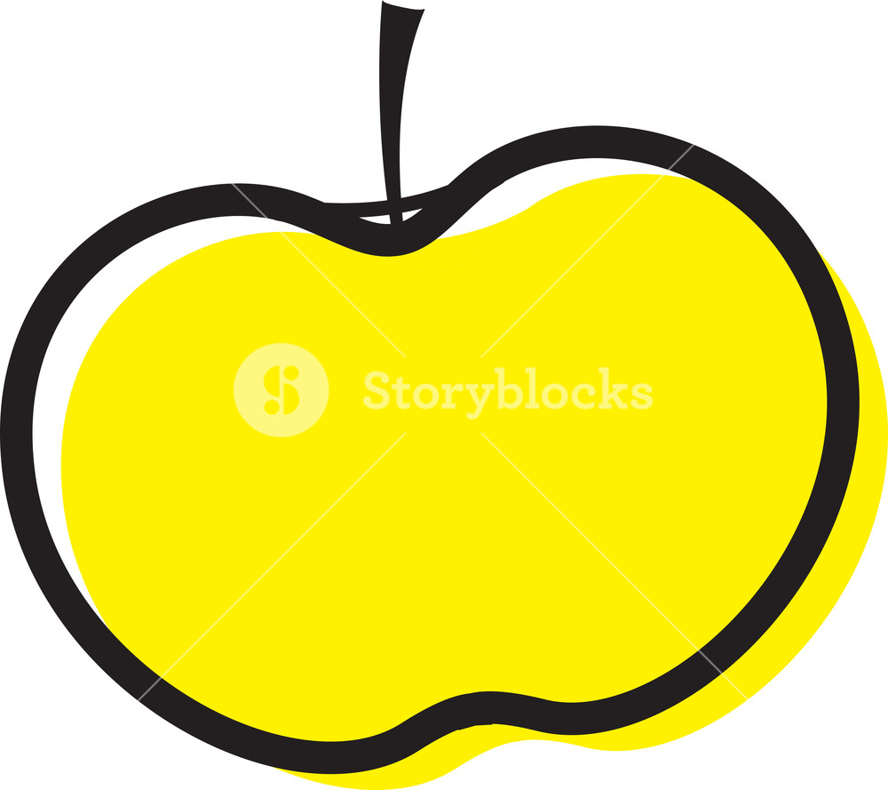 Yellow Apple Clipart Royalty.