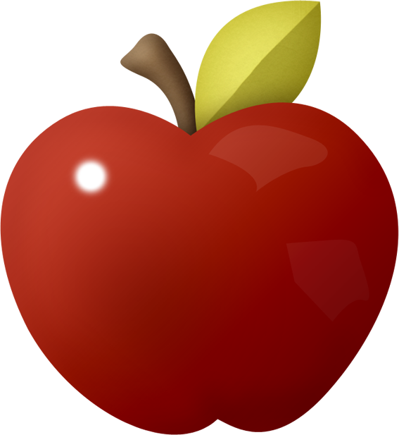 Clipart Apples Shadow.
