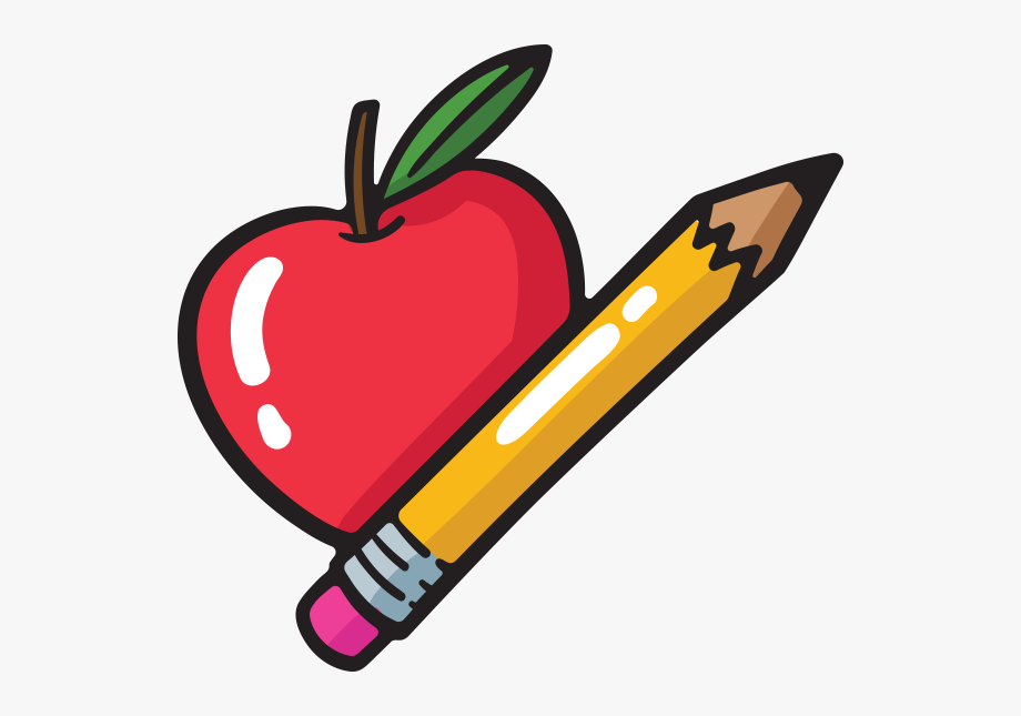 Transparent Background Teachers Apple Clip Art.