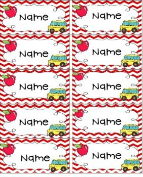 Editable First Day Name Tags.