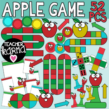Apple Game Template Clipart.