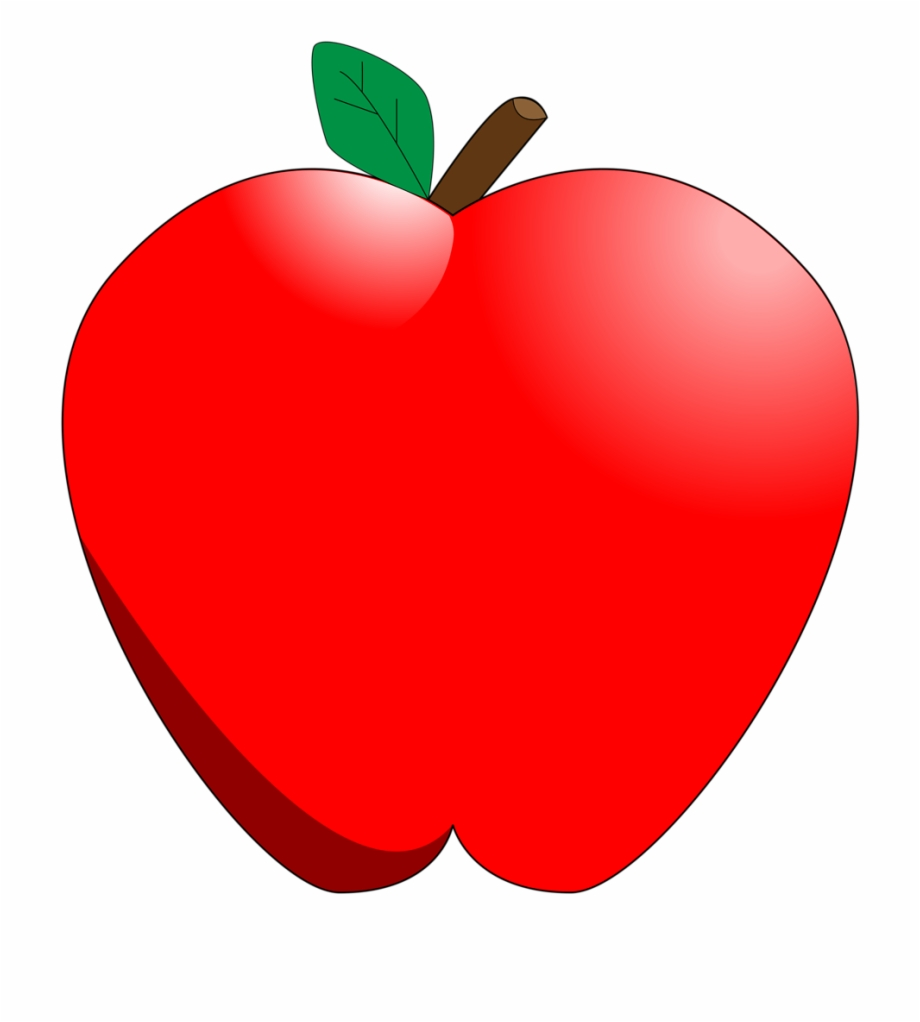 Red Apple Clipart No Background.